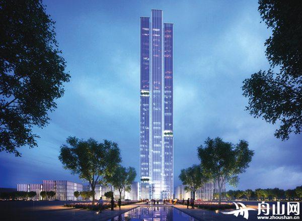 高达219米!舟山最高楼自贸金融中心开建